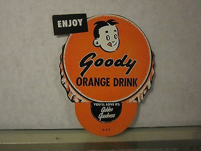 Vintage Original Goody Orange Drink Soda Bottle Topper