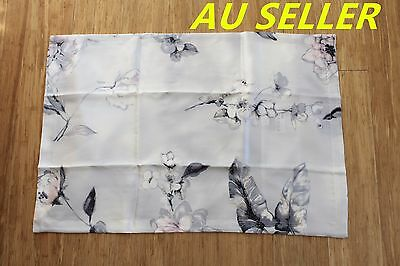 100% Mulberry Pure Silk Pillowcase cover 22 momme Anti Ageing Light Grey Floral