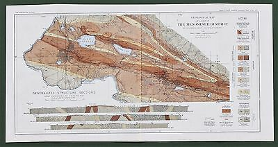 1901 Menominee Michigan Map Norway Iron Mountain Quinnesec Mines Railroads RARE