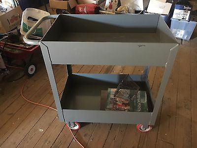 "Little Giant USA 18"" x 35.5"" Deep Shelf Steel Utility Cart"