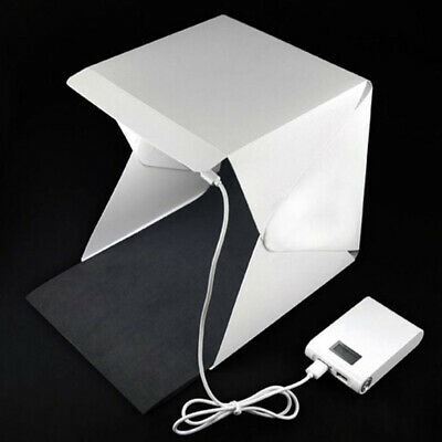 Portable Simple Mini Photo Studio Box Built-in LED Light Photography Backdrop US