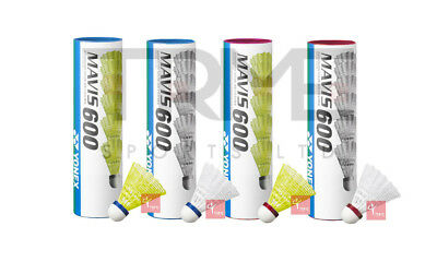 Yonex Mavis 600 Nylon Shuttles (Medium or Fast & White or Yellow Available)