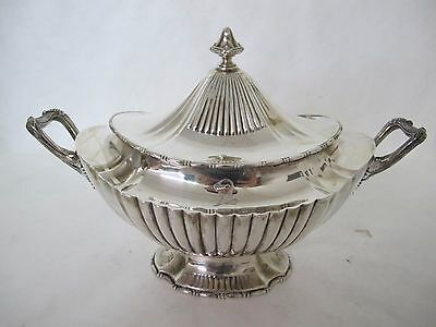 Fantastic Very Large Reed And Barton Sterling Silver Ribbed Covered Tureen
