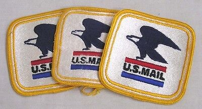 Vintage LOT Three Patches U S Mail with Eagle Logo
