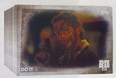 2016 Topps AMC The Walking Dead Season 5 Complete 1-100 Card Set