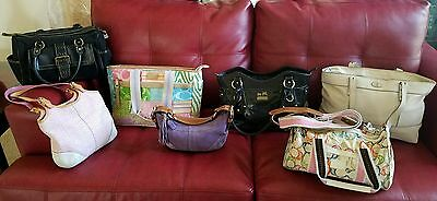 USED BULK ReHab Resale Wholesale Purses Lot 6 Coach and 1 Fossil