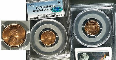 1972 U.S. Lincoln Cent Double Die FS-101 - MS-64 Red  (PCGS) Green CAC