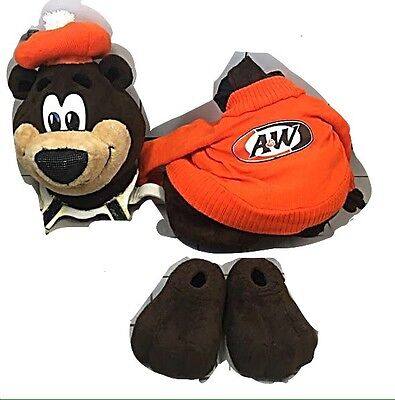 """Genuine Vintage A&w Root Beer Professional Life Size """"rooty"""" The Bear Costume"""