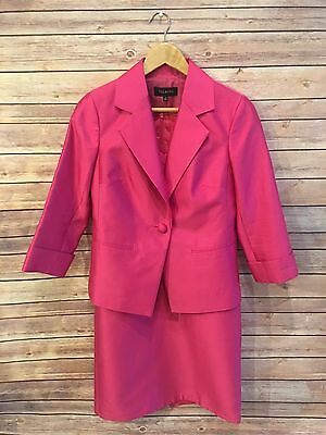 Talbots Size 4 Silk Dress And Jacket Pink Wedding Graduation Mother Of The Bride
