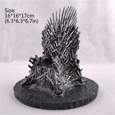 "7"" The Iron Throne Game Of Thrones Replica Statue Figures Miniature Gift Toy"
