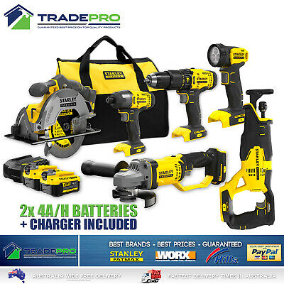 18V Combo Kit 12pc Stanley® Fatmax Cordless Recipro Drill Saw Grinder Impact Drv