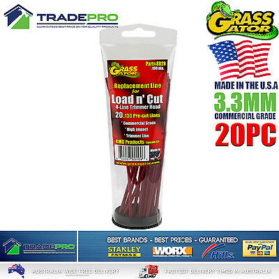 Trimmer Line 3.3mm Reloads Grass Gator® 20Pc Whipper Snipper Cord Brushcutter