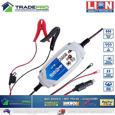 Battery Charger Lion PRO Smart 8 Stage Automatic 6V & 12V Car Bike 4WD AGM ATV