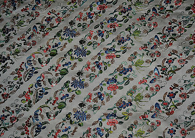 Old or Antique Chinese Uncut Embroidered Silk Robe Bands Sleeve Bands Collar