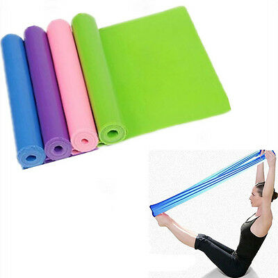 New 1.2 m Elastic Yoga Pilates Rubber Stretch Resistance Exercise Fitness Cosy