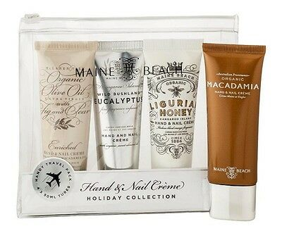 Maine Beach Hand and Nail Crème Holiday Collection Gift Set 50 ml x 4