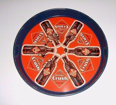 "Rare Antique Original 1940's Orange Crush Drink Soda Pop Serving Tray  "" Nice """