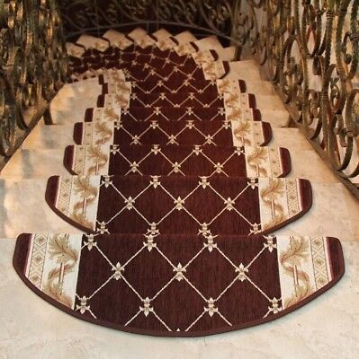 SunnyRain 13-Pieces Stair Carpet Sets Slip Resistance Stair Tread Mats Rugs For