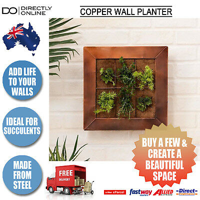 Wall Planter Metal Copper Frame Plant Vertical Garden Window Indoor Outdoor Deco