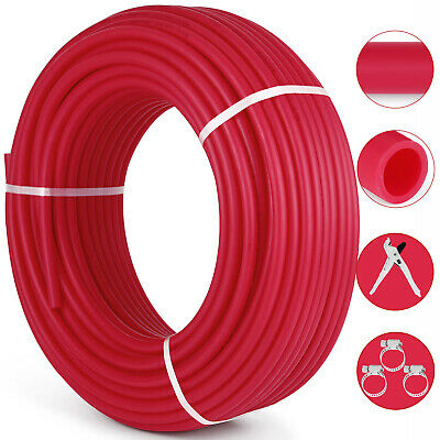 "1/2""x300ft Pex Tubing Oxygen Barrier O2 EVOH Red 300Ft Radiant Floor Heat US"