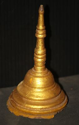 GILT Buddhist wood gilded Buddha vintage chedi Wat pagoda gold architectural OLD