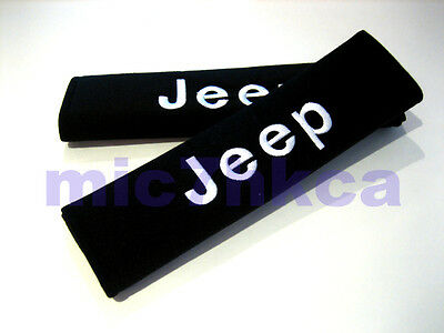 2x soft car seat belt harness cushion shoulder cover pads for JEEP (UK stock)