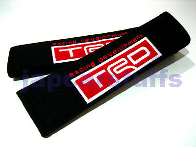 2x soft car seat belt harness cushion cover pads for TRD mod Toyota (UK stock)