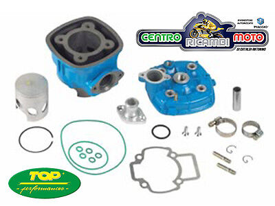 Kit Cilindro Top 2 Due Plus D.47,6 Blu Piaggio 50 Nrg Mc2 Mc3 Power 70Cc Lc H2O