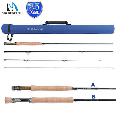 Maxcatch 3/4/5/6/7/8WT Fly Fishing Rod Nano IM12 High modulus Carbon Fiber