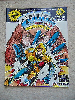 """Best of 2000 AD Monthly #24 (1987) Strontium Dog """"Moses Incident""""/Dredd """"Jimps"""""""