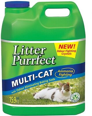 Lemongrass Cat Litter 15.9kg Multi-Cat Scoopable Cat Litter Eliminating Odour