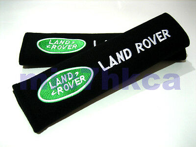 2x soft car seat belt harness cushion cover pads for LAND ROVER (UK stock)