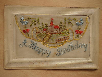 Ww1 Sweetheart Postcard 'a Happy Birthday'
