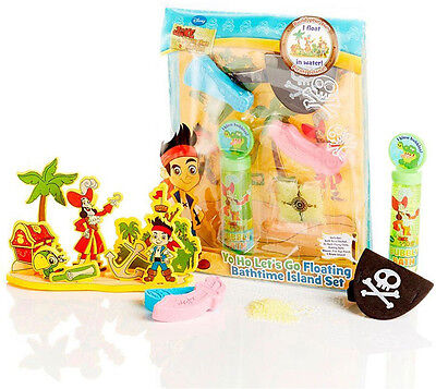 New Disney Jake and the Never Land Pirates Floating Island Bath Set Ages 3+