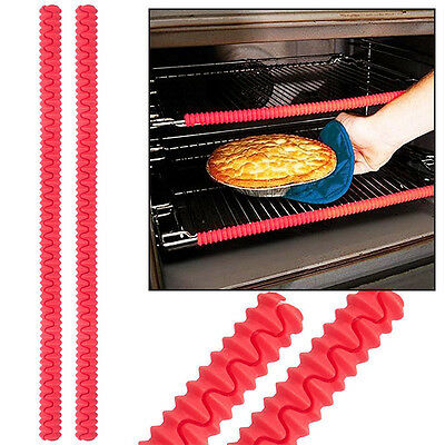 Silicone 2 of Oven Shelf Guards for Resistant Heat Pack Set Burn Protection Tool