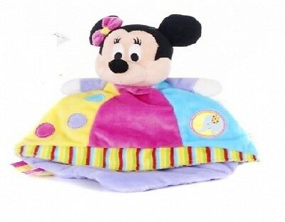 Brand New Disney Minnie Mouse Baby Soft Toy Colourful Comforter Ages From Birth+