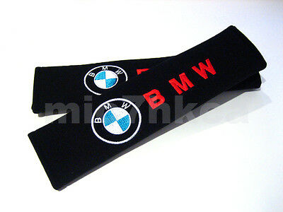 2x soft car seat belt harness cushion shoulder cover pads for BMW (UK stock)