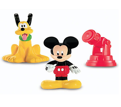 Brand New Fisher Price Mickey Mouse and Pluto Toy Figures Ages 2 Years+