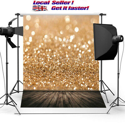 7x5ft Gold Glitter Sequin Photography Wall Backdrop Background Studio Prop Vinyl