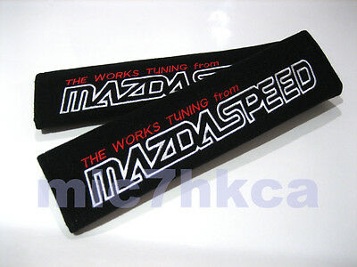 2x soft car seat belt cushion cover pads for MAZDASPEED mod Mazda (UK stock)