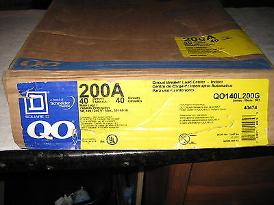 New Square D Qo140L200G   200 Amp Mlo Single Phase Indoor Load Center