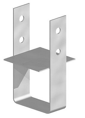 """Fencemate Post Anchor Concrete In Galvanised Post Support - 100mm 4"""" Posts"""
