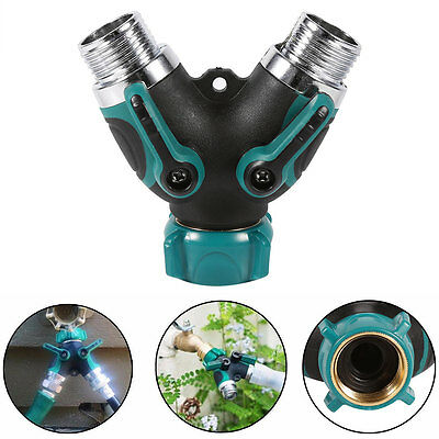 High Quality Garden Hose Splitter Y Shape Valve Water Pipe Connector Adapter