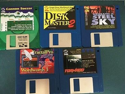Commodore Amiga software disks various games and utilities #23