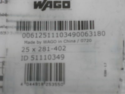 WAGO terminal block markers 209-501 new factory bag 5 cards per box blank white