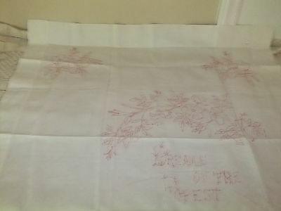 """Pillow Covers Vintage Turkey Red Embroidery 1970 """"Dreams of The Forest""""   #1 & 2"""
