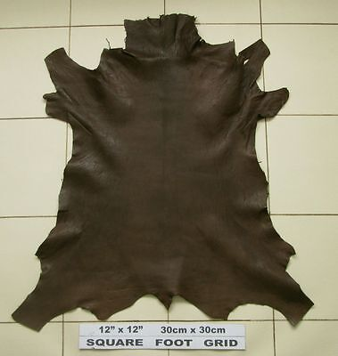 Rugged brown goat skin leather Pronounced grain 2mm BARKERS LEATHER N295A
