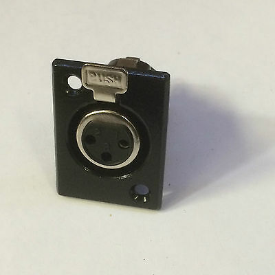 New 3-Pin XLR Female Socket Chassis Mount - Metal Audio Connector