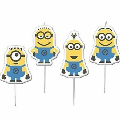 Despicable Me Party Minions Mini Figurine Candles Pack of 4 - by AMSCAN