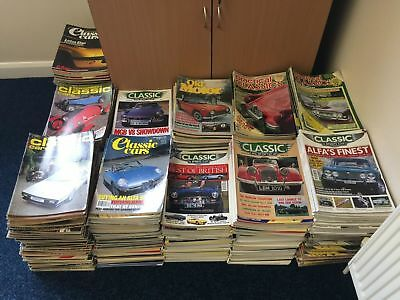 Approximately 750 Classic Car Magazines dating from the 70's
